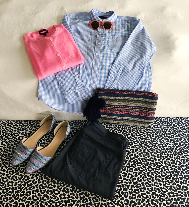 jcrew-gingham-cocktail-legends-of-lido-flatlay