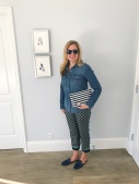 jcrew foulard chambray stripes charlie slides