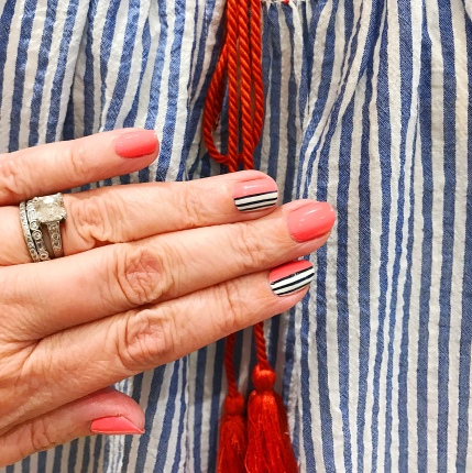 stripes mani jcrew 3