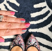 stripes mani jcrew glitter JA rug