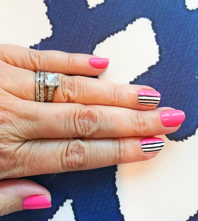 stripes mani jcrew roberta roller rabbit