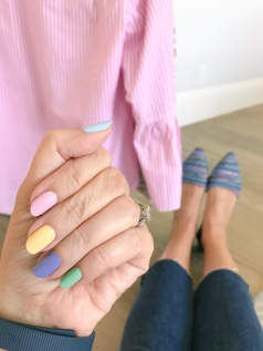 mani monday easter jcrew stripes