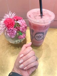 chanel nail art floral alfred tea