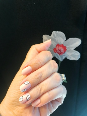equipment chanel nail art floral 1