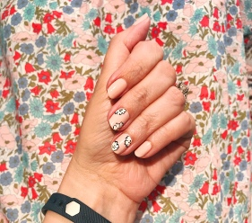 jcrew chanel nail art floral 1