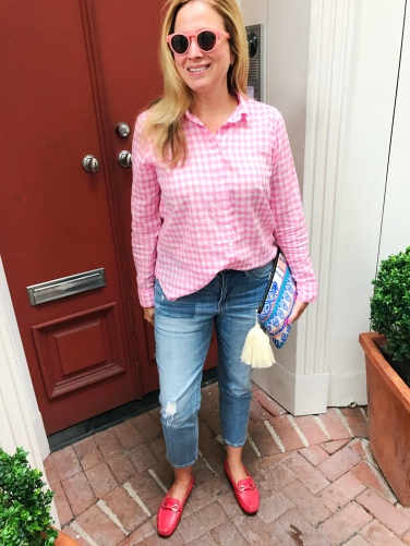 jcrew pink gingham legends of lido prada 5