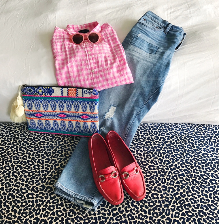 jcrew pink gingham legends of lido prada 6