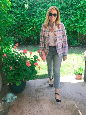 jcrew plaid blazer 1