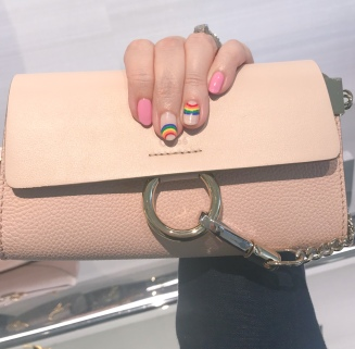 rainbow nail art chloe