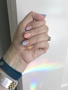 mani monday fitbit half dip rainbow 1