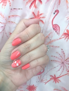 mani monday flamingo nail art pj salvage 1