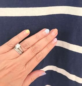 manimonday nail art jcrew stripes