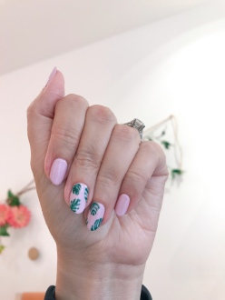 nailart-manimonday-palmleaf