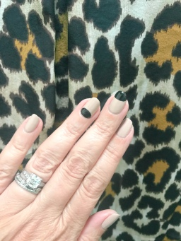 mani monday opi jcrew leopard