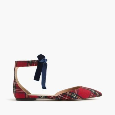 plaid ankle stap d'orsay