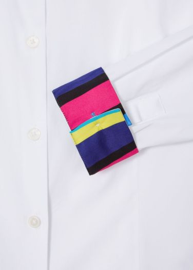 paul smith white shirt cuff